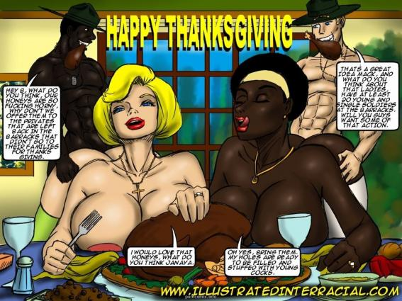 Holiday Pictures- illustrated interracial - Big Boobs