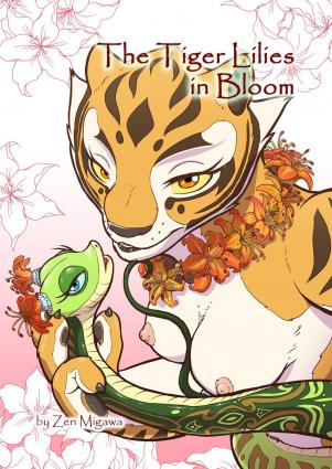 The Tiger Lilies in Bloom - cartoon