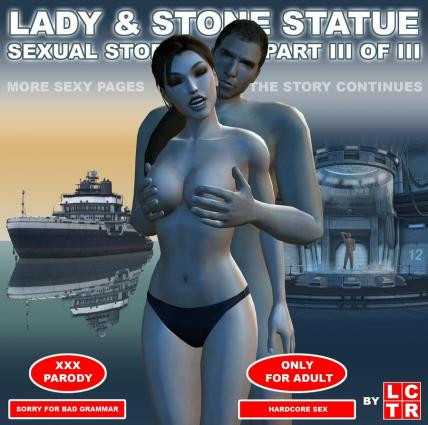 Lady & Stone Statue - Sexual Story Part III - 3d