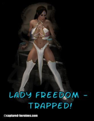 Captured Heroines- Lady Freedom Trapped - 3d