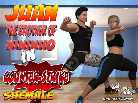 The Brother of Nininho in Counter-Strike – PigKing - anal